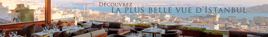Découvrez la terrasse du restaurant Le Fumoir au Georges Hotel à Istanbul, restaurant français avec vue sur le Bosphore