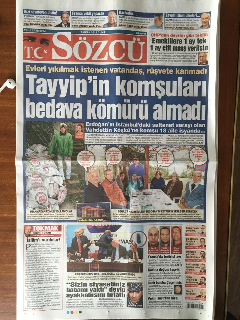 Sözcü gazetesi cover